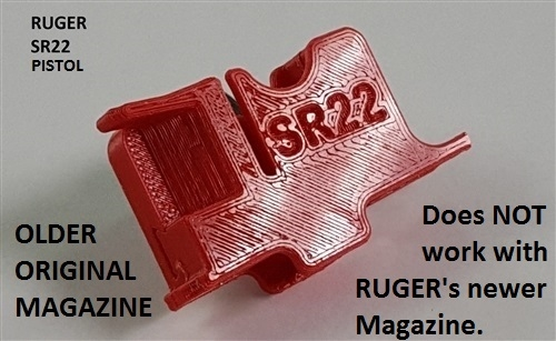 (#4) Ruger SR22  (Older Original Magazine) Pistol Adapter Only